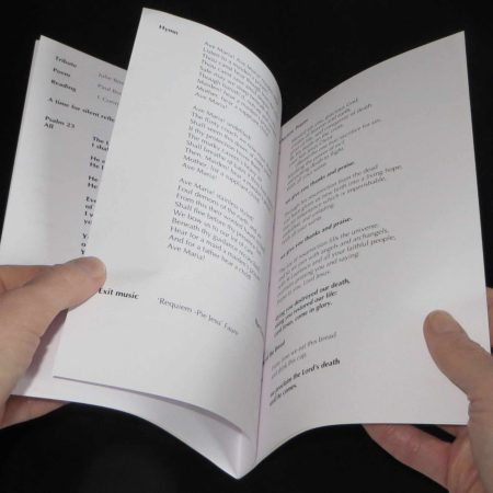 8 Page Booklet