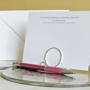 Correspondence Cards Design C01 White