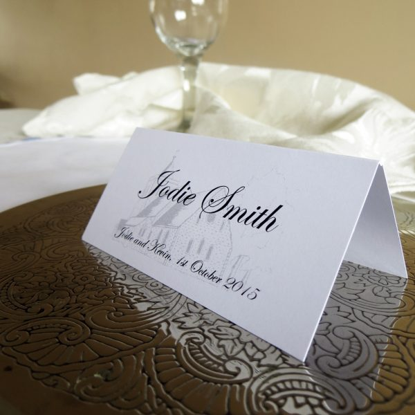 Personalised Church Place Cards