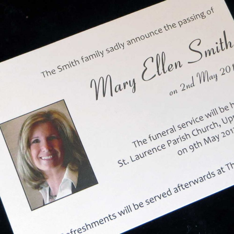 Funeral Announcement Cards FAC01