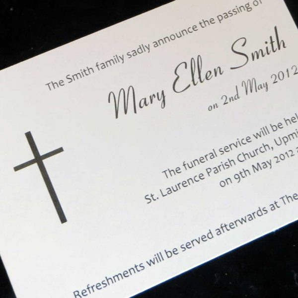 Funeral Announcement Cards Design FAC02
