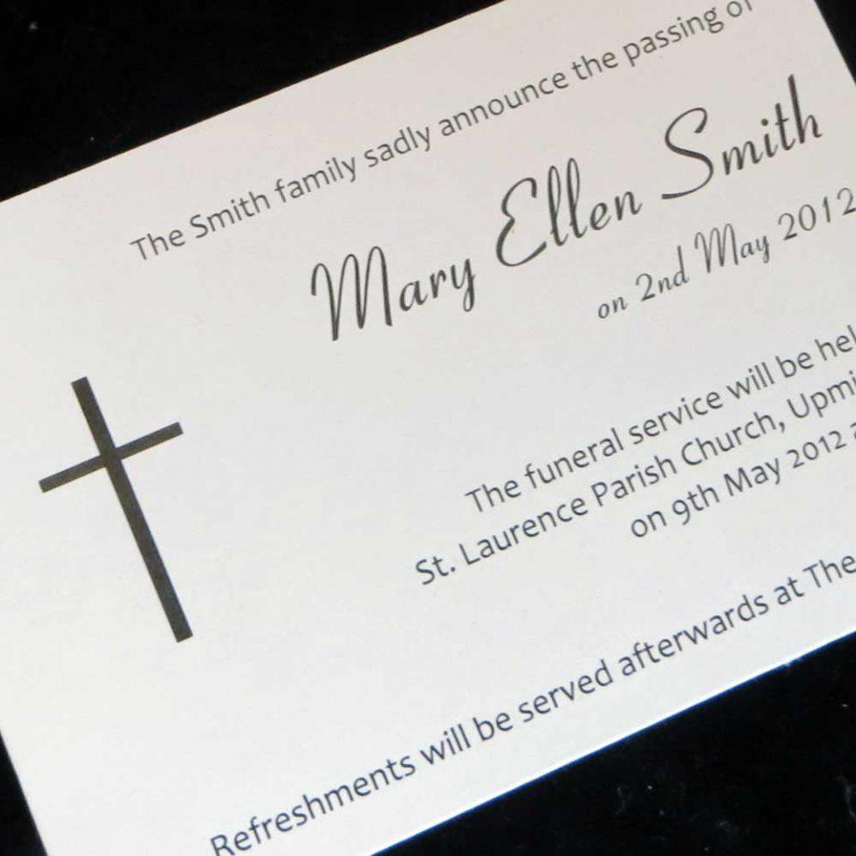 Funeral Announcement Cards Design FAC02