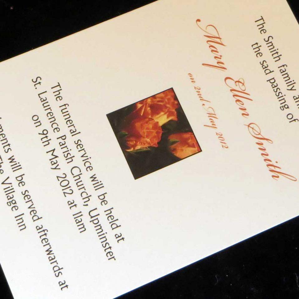 Funeral Announcement Cards Design FAC03
