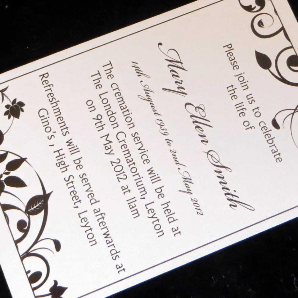 Funeral Announcement Cards Design FAC04