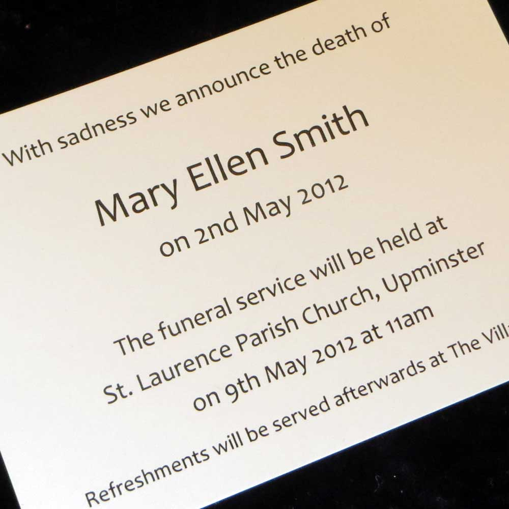funeral announcement cards funeral postcard printing - 1000×1000