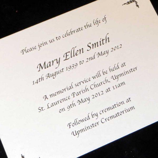 Funeral Announcement Cards Design FAC07