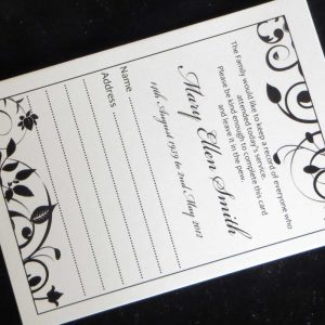 Funeral Attendance Cards FAT04