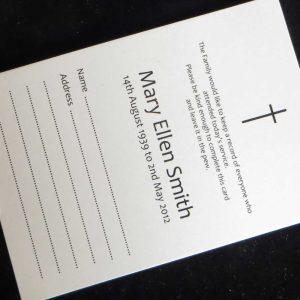 Funeral attendance Card FAT07