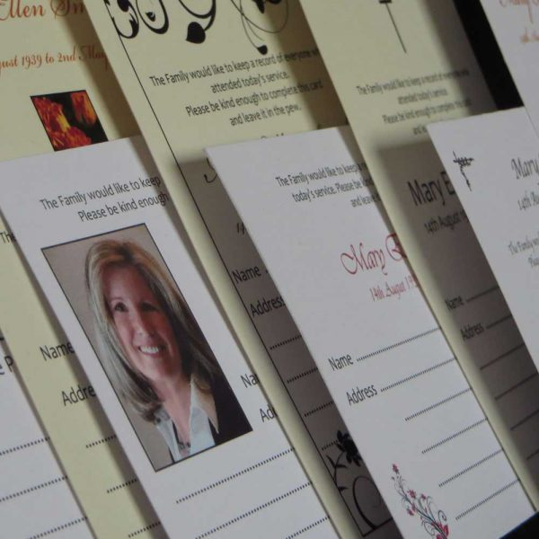 Funeral Attendance Cards
