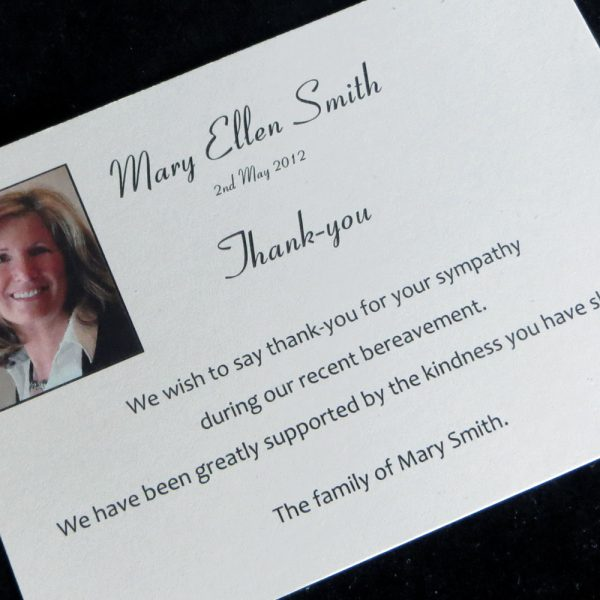 Funeral Thank You Card Design FTYC01
