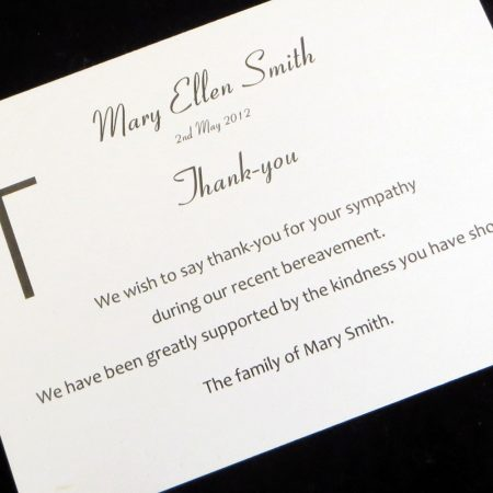 Funeral Thank You Cards FTYC02