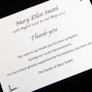Funeral Thank You Cards FTYC08