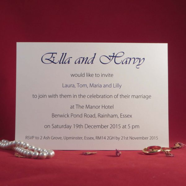 elegance Wedding Invitations Back Ivory
