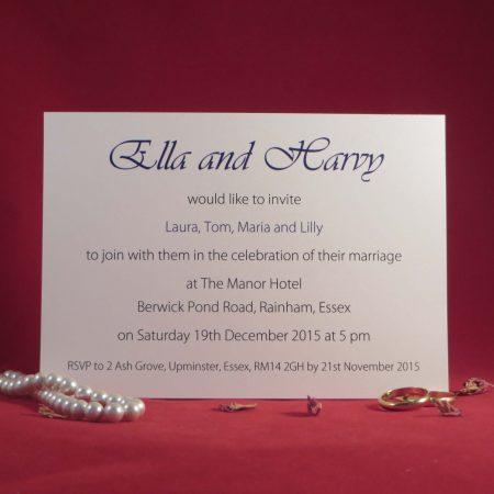 elegance Wedding Invitations Back Ivory
