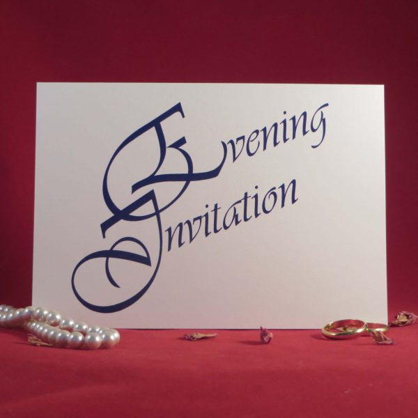 Elegance Wedding Invitations Ivory