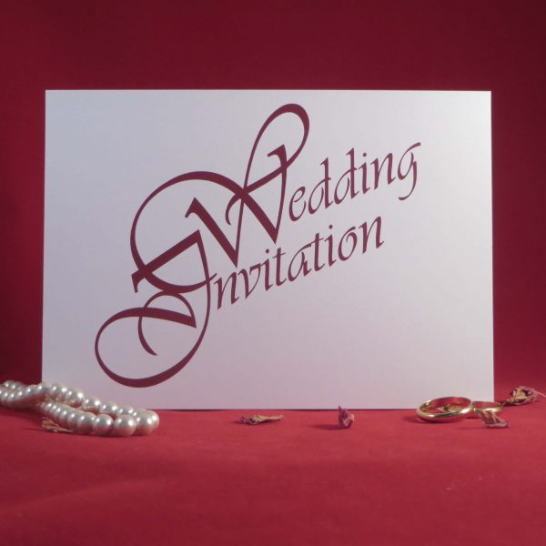 Elegance Wedding Invitations Front White