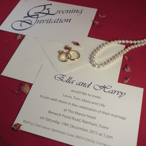 Ivory Elegance Wedding Invitations