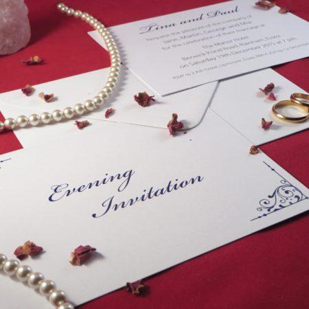 Personalised Flourish Wedding Invitations