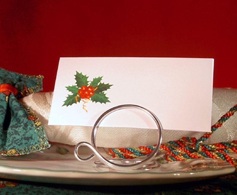 christmas festive place name cards wedding office for card holders pn10 ebay. Black Bedroom Furniture Sets. Home Design Ideas