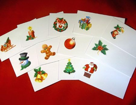 Festive Place Cards for holders Mixed