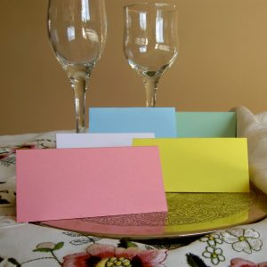 Coloured Place Cards