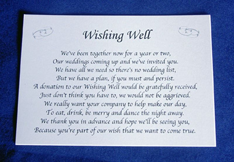 Wedding Gift Wish Poem : ... -Wishing-Well-Money-Request-Poem-Gift-Cards-for-Wedding-Invitations