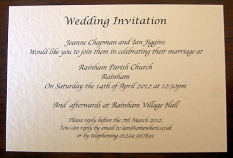 Evening Wedding Reception Invitations