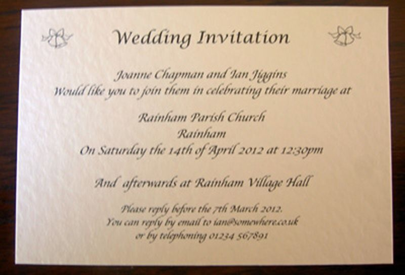 Personalised Wedding Day Evening Reception Invitations Invites Cards ...