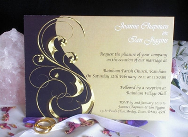Evening Wedding Reception Invitations: Personalised Wedding Invitations Civil Ceremony Invites