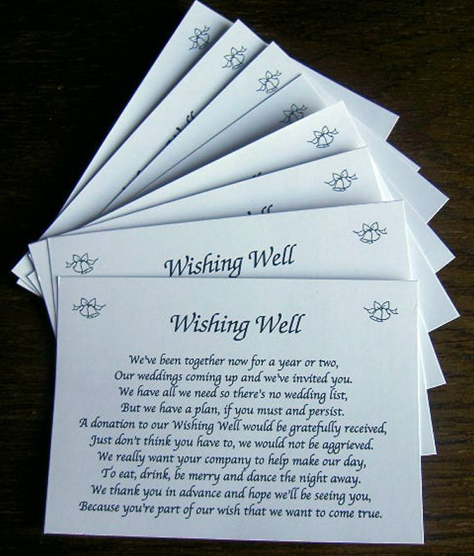 25 Wishing Well Wedding Poem Cards For Your Wedding Invitations