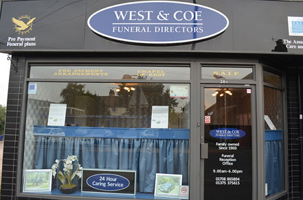 West and Coe Funeral Directors Aveley