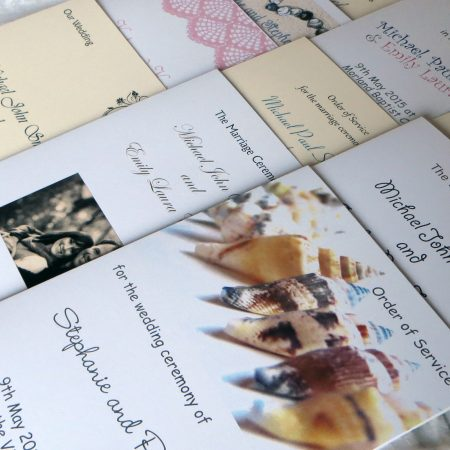 Wedding Order of Service Cards