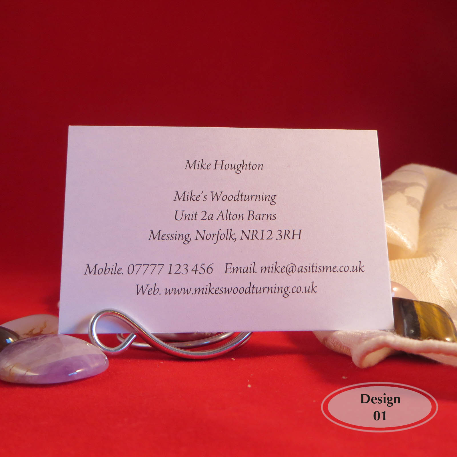 Personalised colour print business cards for crafters standard 85 x example plain design colourmoves