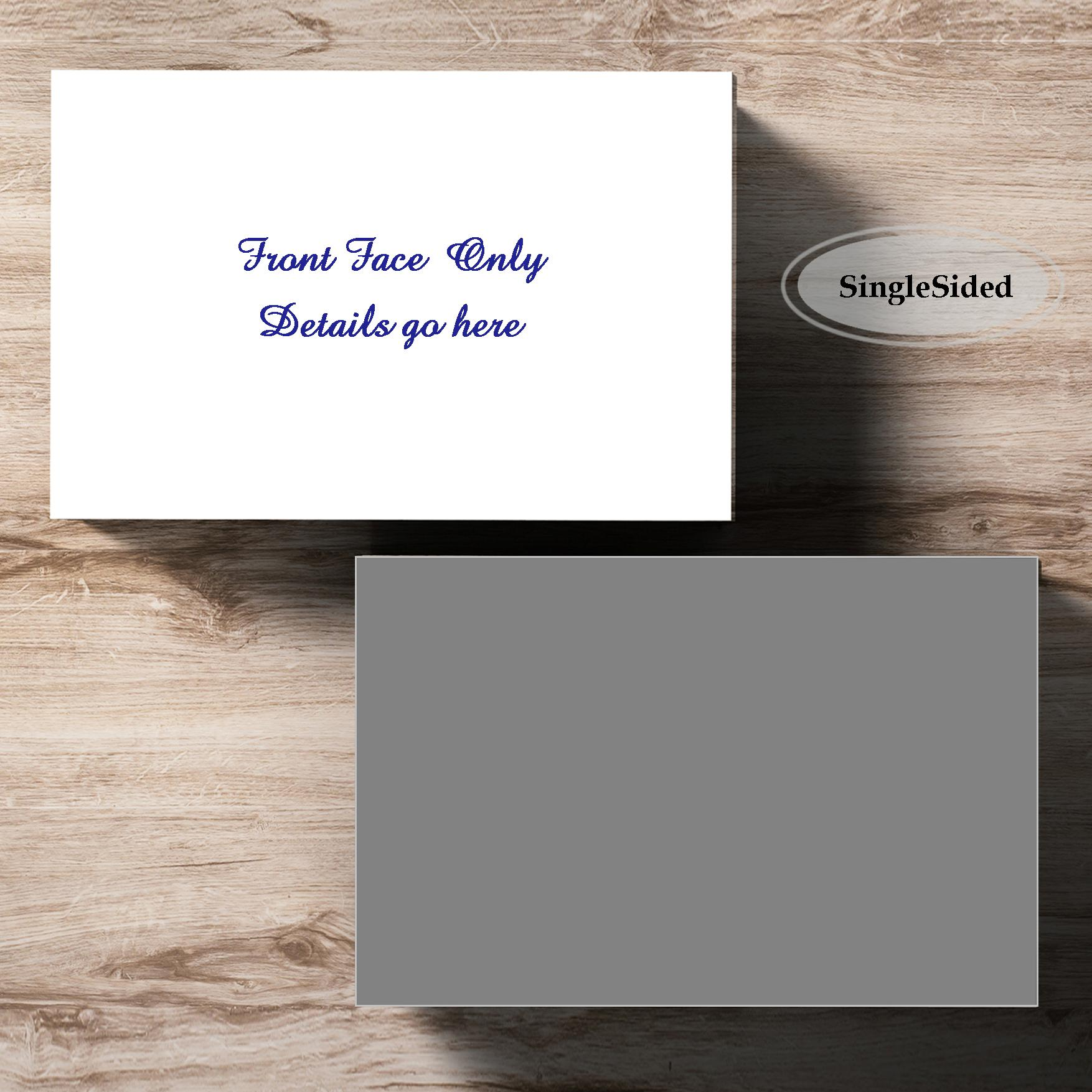 Personalised Premium Business Cards, colour print on 330gsm cardstock.