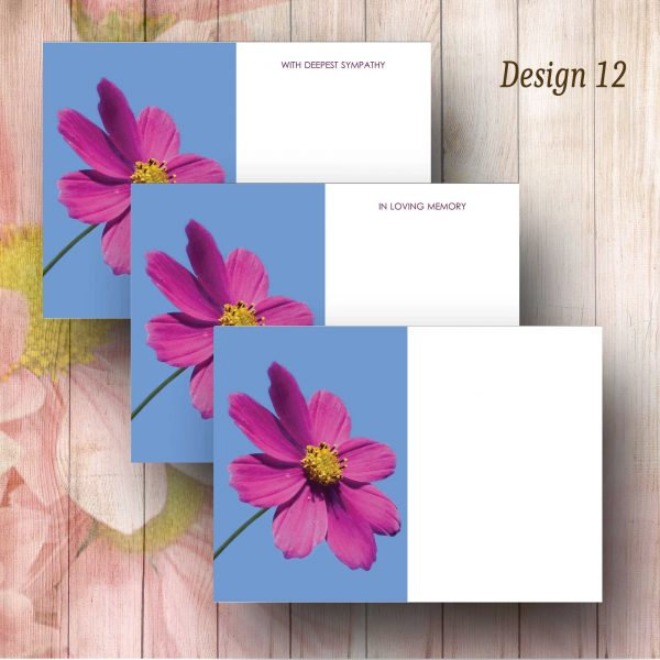 Magenta Cosmos Flower Florist Card