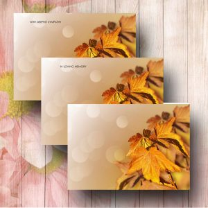 Golden Leaves Florist Card