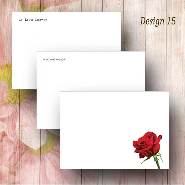Single Red Rose Florist Message Card