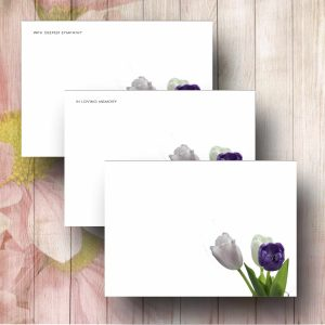 Corner Tulips Forist Message Card