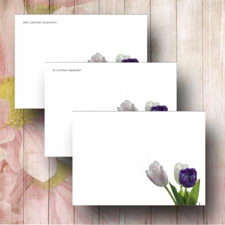 Corner Tulips Forist Message Card