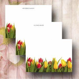 Bottom Tulip border Florist Message Card