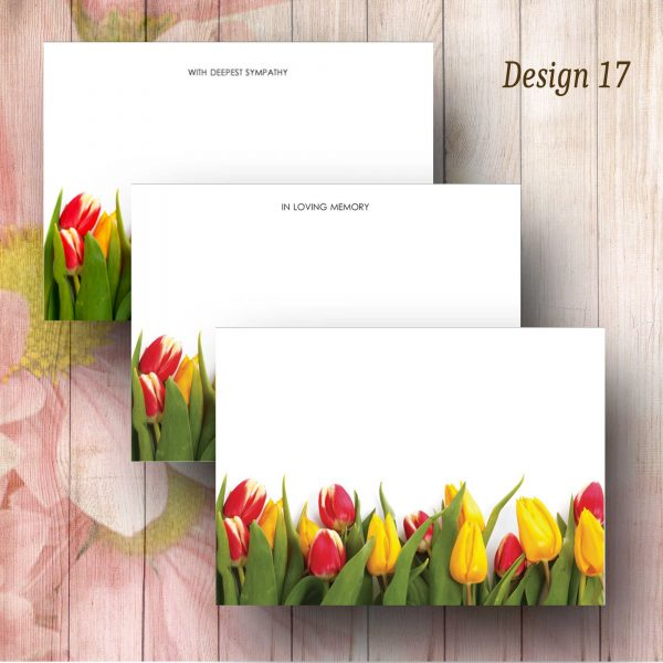 Bottom Tulip border Florist Message Card