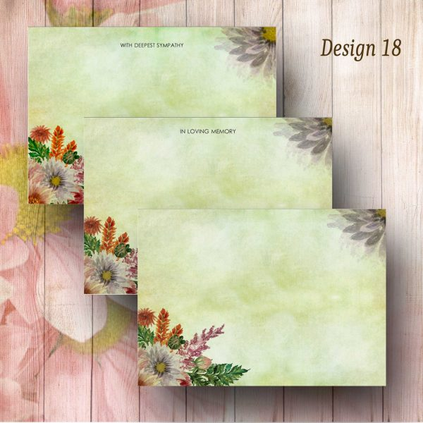 Floral Watercolour Funeral Message Card