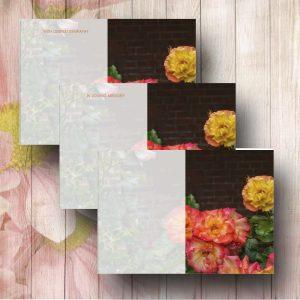 Blush Roses Florist Message Card