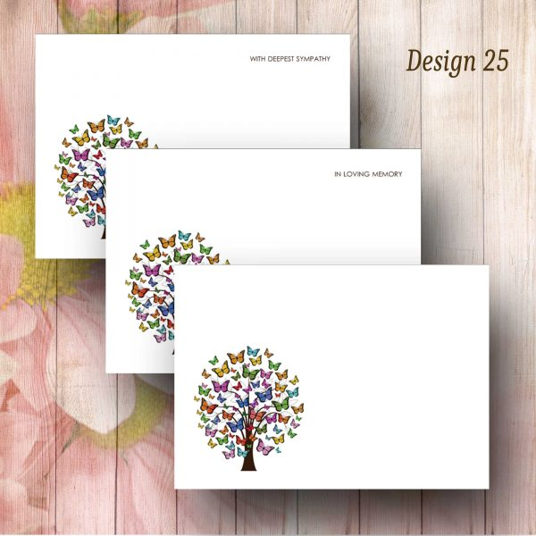 Butterfly Tree Funeral Florist Message Card