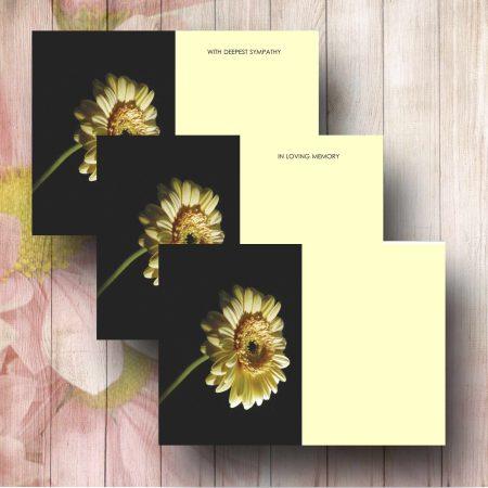 Yellow Gerbera Funeral Florist Card