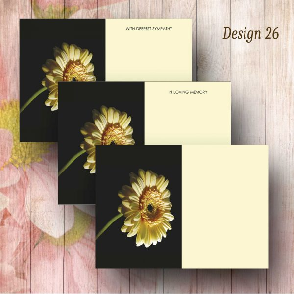 Yellow Gerbera Funeral Florist Card