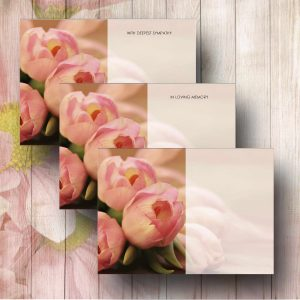 Blush Tulips Funeral Flower Message Cards