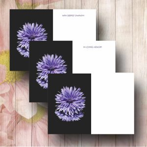 Funeral Message Card FC3 Purple Aster