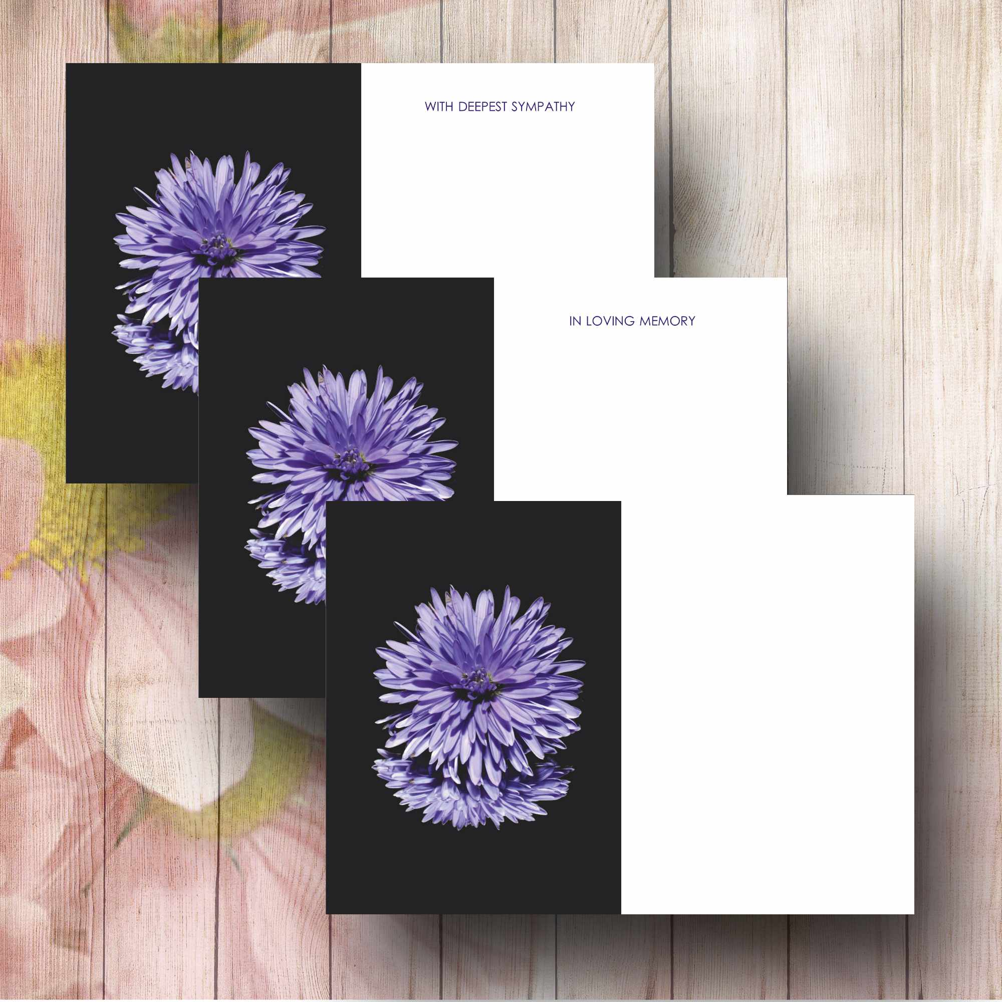 Mauve dhalia flower funeral florist message card greeting card funeral message card fc3 purple aster izmirmasajfo