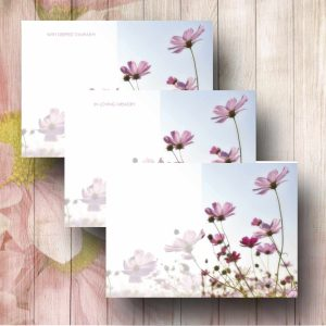 Cosmos Sky Funerl Floer Message Card